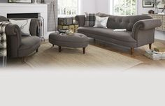 From sleek natural curves to gracefully matched colour and material, the Moray brings a touch of Highland finesse to any home. Cuddler Sofa, Dfs Sofa, 2 Seater Sofa, Victorian Living Room, Cottage Living Rooms, Living Room Furniture, Home Suites, Modern Sofa Designs, Modern Design