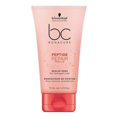 Schwarzkopf Professional BC Peptide Repair Rescue Sealed Ends – All About Hairstyles Schwarzkopf Hair Products, Porous Hair, Schwarzkopf Professional, Split Ends, Smooth Hair, Beauty Shop, Le Point, Keratin, Products