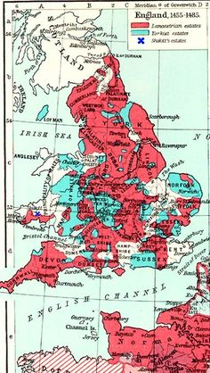 Map of England and Wales during the War of the... - Maps on the Web
