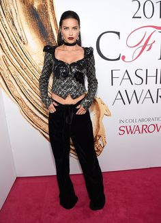 CFDA Awards 2016: The Best Dressed Celebrities on the Red Carpet: Adriana Lima in a Marc Jacobs sequin top and wide leg pants