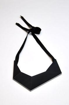 Aumorfia | Polygons | SS14 | Origami leather necklace