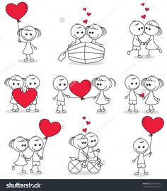 Fonts Alphabet Discover Collection Set Cute Couple Doodle Hearts Stock Vector (Royalty Free) 386179042 collection set of cute couple doodle with hearts Couple Drawings, Easy Drawings, Doodle Art, Stick Figure Drawing, Stick Figures, Stone Art, Rock Art, Cute Couples, Painted Rocks