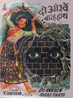 Do Aankhen Barah Haath (1957) Hindi Movie Online in HD - Einthusan  V. Shantaram, Sandhya Directed by V. Shantaram Music byVasant Desai 1957 [U] ENGLISH SUBTITLE Om Namah Shivaya, Gemini Pictures, Old Film Posters, Hindi Movies Online, Bollywood Posters, Bollywood Songs, Screen Film, Blockbuster Movies, Vintage Bollywood