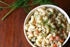 This vegan macaroni salad is rich and creamy, and almost indistinguishable from the real deal. With fresh herbs and crunchy carrots, it's a sure winner!