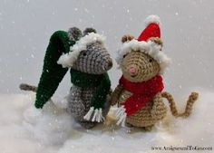 amigurumi christmas mouse free pattern by Amigurumi To Go