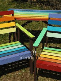 How To: Rainbow Garden Furniture.