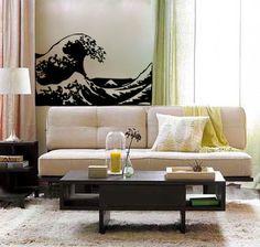 6c4753f3978 LARGE Kanagawa Wave vinyl decal- mount fuji ocean interior design