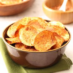 Homemade Barbecue Potato Chips are easier to make at home than you think! Recipes for baked and fried provided.