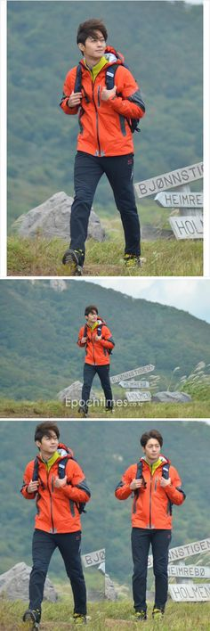 Kim Hyun Joong for Center Pole (love the wind-blown messy hair!) credit: on logo, also 麦Cococo via weibo