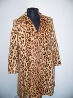 VINTAGE 1960'S LEOPARD PRINT WOMEN'S PEA COAT--TAILORED AND SOPHISTICATED