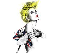 Agyness Deyn - Glamour Magazine - Illustration by ©Luis Tinoco - WWW.LUISTINOCO.COM