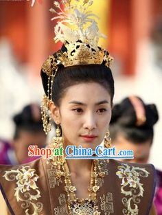 Ancient Korean Princess Hair Accessories, Earrings and Necklace Complete Set rental set traditional buy purchase on sale shop supplies supply sets equipemnt equipments Korean Princess, Chinese Hairpin, Empress Ki, Princess Hairstyles, Korean Actresses, Traditional Dresses, Hair Pieces, Hair Accessories, Girly