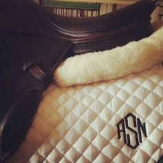 Monogram saddle pad. Every one of my pads will have this when I'm older...