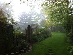 This morning was so beautiful in the garden. I love fog, it makes even the rainy days special.
