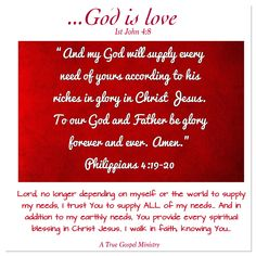 Are all your needs supplied? Seek God.. #atruegospelministry