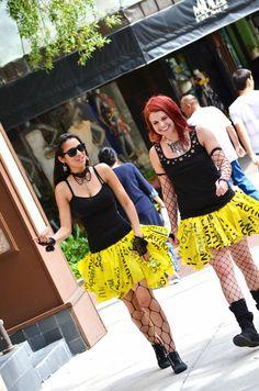 Caution Tape Tutu Inspired Skirt by HiJenxStore on Etsy, $45.00