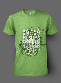 """Muslim Coalition of Connecticut """"MUSLIMS AGAINST HUNGER""""  T-shirt"""