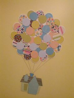 Annie Makes Things: Up Themed Nursery | DIY House and balloon wooden artwork