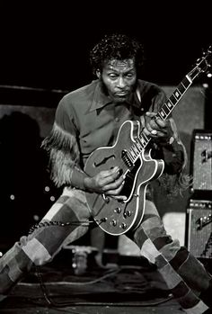 Chuck Berry playing a Gibson 330 - 1970s