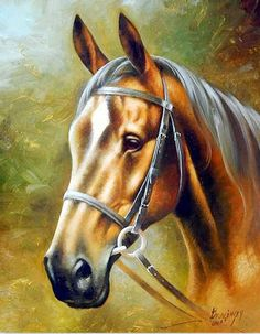 Fine art on canvas & original art paintings for sale! Landscape paintings, nude paintings, and figurative paintings by hungary artist Arthur Braginsky. Cross Paintings, Buy Paintings, Animal Paintings, Painted Horses, Russian Painting, Russian Art, Beautiful Horses, Animals Beautiful, Horse Artwork