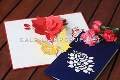 Resultado de imagen para pop up cards flowers flower garden