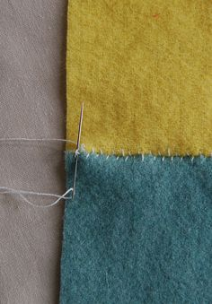 for sewing together squares of felted cashmere