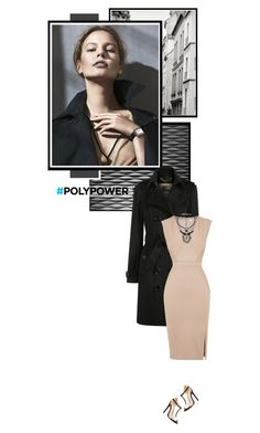 """""""Power Outfit"""" by mcheffer ❤ liked on Polyvore featuring Inhabit, Burberry, Oasis, Charlotte Russe and PolyPower"""