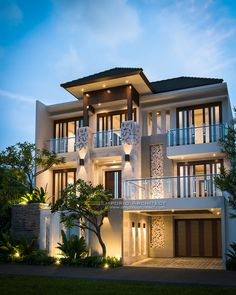 The Difference Between Modern Interiors And Traditional Interior Home Design House Front Design, Modern House Design, Style At Home, Bungalow Haus Design, House Plans Mansion, Mansion Designs, Luxury Homes Dream Houses, Dream Homes, Dream House Exterior