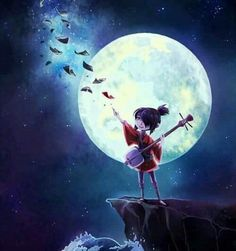 """aryll: """" Kubo and the Two Strings is the most beautiful film I've seen this year. It had a wonderfully classic Kurosawa vibe. This might just be Laika's best movie to date, so please, go support this amazing stop motion masterpiece! Disney Cartoons, Disney Movies, Samurai, Laika Studios, Kubo And The Two Strings, Fanart, Photo D Art, Animation, Moon Art"""