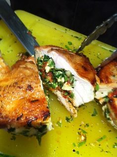 Stuffed Cypriot Chicken Breasts with Feta