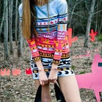 tribal... awesome, relaxed but adorable. Would want to wear this with brown boots