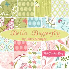 Bella Butterfly Fat Quarter Bundle Patty Sloniger for Michael Miller Fabrics - Fat Quarter Shop