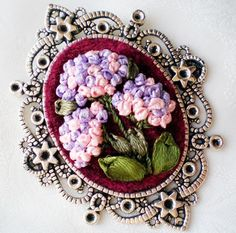 "Lovely pendant ""Hydrangea"" for bridesmaid"