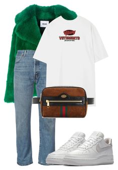 """""""Untitled #473"""" by jess-lewin ❤ liked on Polyvore featuring MSGM, RE/DONE, Vetements, Gucci and NIKE"""