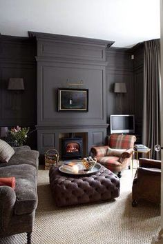 Doing Any Accent Wall In Dark Colours Paint Skirtings Dado And Cornice The Same Colour As When Using A Like This Room By