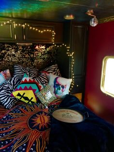RV interiors by Paloma. Redid my boyfriends old trailer and turned it into this gem ❤️❤️❤️ #interiorsbypaloma #glamping #camping #bohemian #gypsy #spelldesigns #gypsywarrior #rv #trailer #fifthwheel #diy #interiordesign #hippy #festival #roadtrip #burningman #happycamper #gypsycaravan #rvmakeover