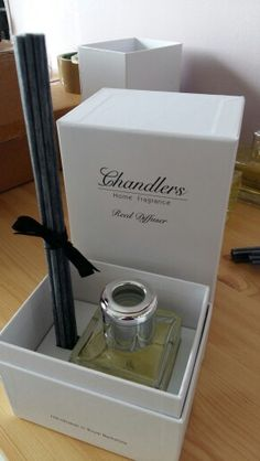 Gorgeous White Fig reed diffuser boxed just waiting for it's black satin ribbon...beautiful fragrance