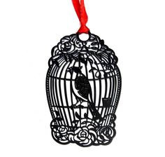 10pcs Stainless Steel Black BirdCage Bird Cage Bookmark Book card For Wedding Baby Shower Party Birthday Favor Gift Souvenirs #Affiliate