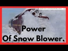 Awesome Power of Train Snow Blower - Train Snow Plow - Rotary Snow Plow Blower Snow Plow, Rotary, Locomotive, Super Powers, Science And Technology, Time Travel, Train, Awesome, Youtube