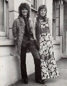 "electripipedream: ""  David Bowie and Angie Bowie 1970 """