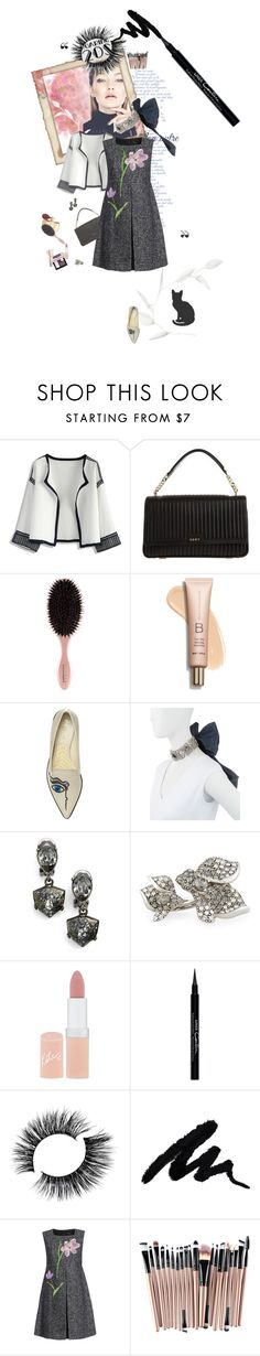 """""""20's"""" by vallyk ❤ liked on Polyvore featuring Chicwish, DKNY, Nicholas Kirkwood, Oscar de la Renta, Rimmel, Givenchy and Dolce&Gabbana"""