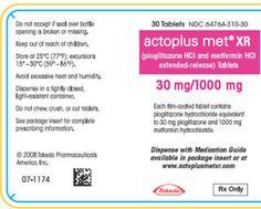 Buy Medication for Diabetes Treatment: Actoplus Met is used for treating type 2 diabetes. Active Ingredient: metformin, pioglitazone