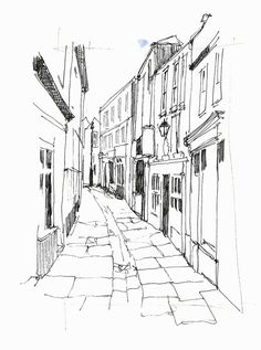 Whitby streets 3 by John Harrison, artist The Effective Pictures We Offer You About Architecture Sketchbook, Arte Sketchbook, Art And Architecture, Architecture Diagrams, Architecture Portfolio, Dark Drawings, Art Drawings Sketches, City Sketch, Perspective Drawing