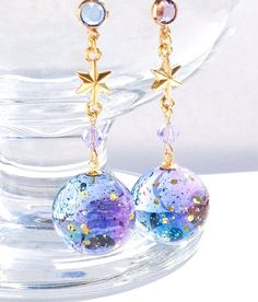 Galaxy resin earrings