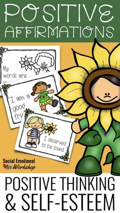 This set of 48 positive affirmation cards (in color and BW) are perfect for helping students develop positive thinking habits, a healthy self-esteem, and a persistent attitude. These are great for students who struggle with confidence and negative thinking, but can also be used as part of a positive classroom culture.   A healthy self-esteem is based on a person's belief in not only their worth but also their competence. They see themselves as valuable and competent.