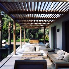 There are lots of pergola designs for you to choose from. First of all you have to decide where you are going to have your pergola and how much shade you want. Pergola Attached To House, Pergola With Roof, Covered Pergola, Pergola Shade, Wood Pergola, Outdoor Pergola, Backyard Pergola, Pergola Kits, Small Pergola