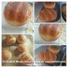Paine de casa traditionala ungureasca   Savori Urbane Allrecipes, Hamburger, Foodies, Bread, Cabana, Bread Baking, Brot, Cabanas, Baking