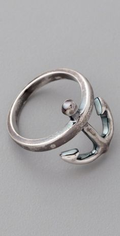 Elizabeth and James Anchor Ring...i just love the idea of this!