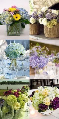 Decoratiuni si aranjamente nunta cu hortensii