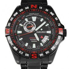 Chronograph-Divers.com - SSA113J1 Seiko Automatic WR100m Date Black Sports WR100m Mens Watch, $277.00 (http://www.chronograph-divers.com/ssa113j1/)